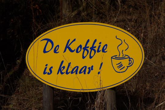 De Koffie is klaar!